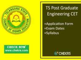TS PGECET : Application Form, Exam Date, Syllabus & Pattern