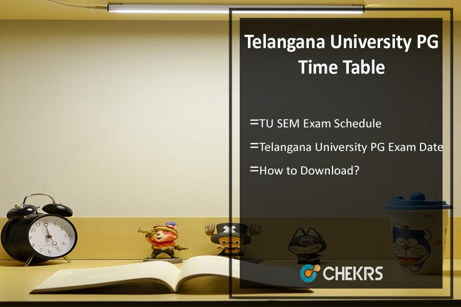 Telangana University PG Time Table - TU Sem Exam Date