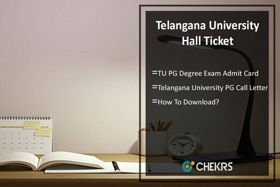 Telangana University Hall Ticket - TU PG Degree Exam Admit Card