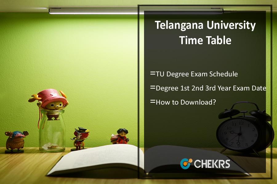 Telangana University Time Table- TU Degree 1st 2nd 3rd Year Exam Date