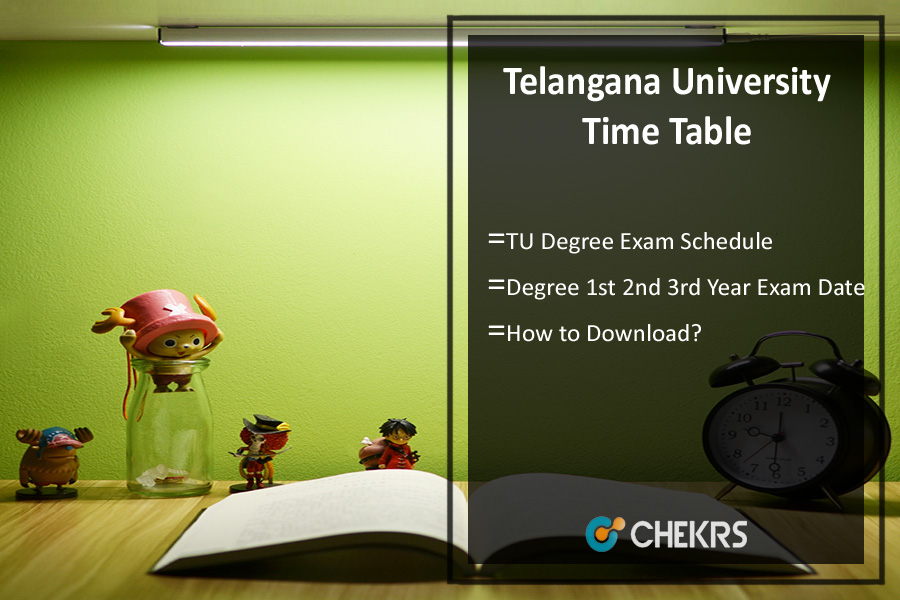 Telangana University Time Table- TU Degree 1st 2nd 3rd Year Exam Date