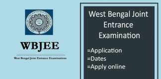 WBJEE : Application Form, Exam Dates, Syllabus, Eligibility