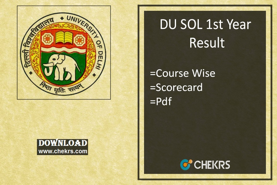DU SOL 1st Year Result Course Wise