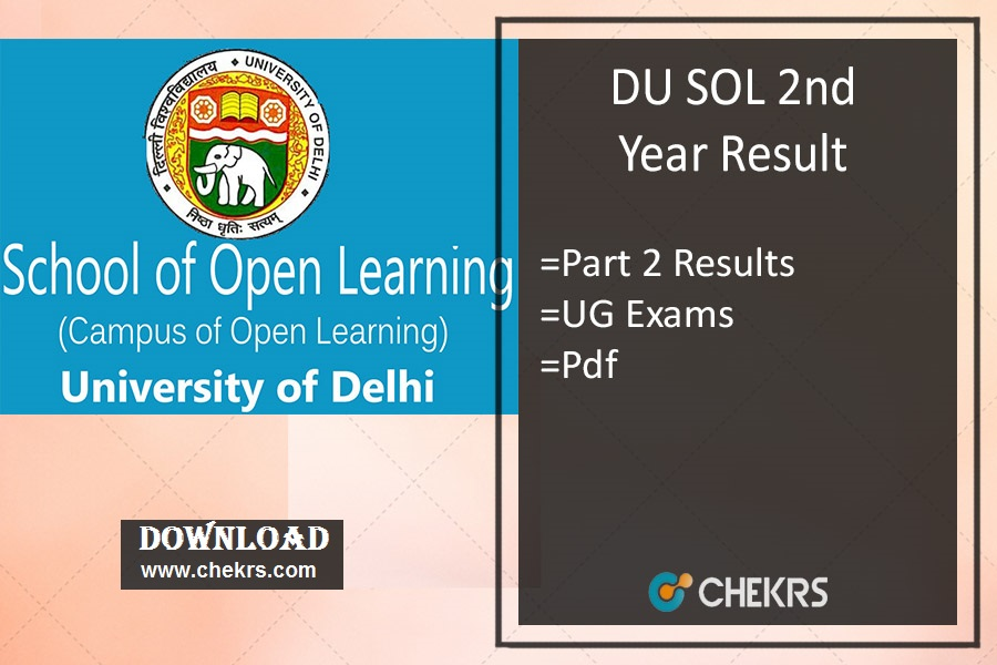 DU SOL 2nd Year Result - Delhi Univ BCom BA Hons Results