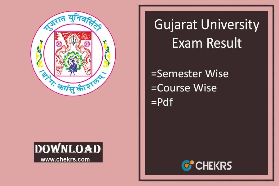 Gujarat University Result Oct Nov Dec- BA BSc BCom Sem 2 4 6 Results