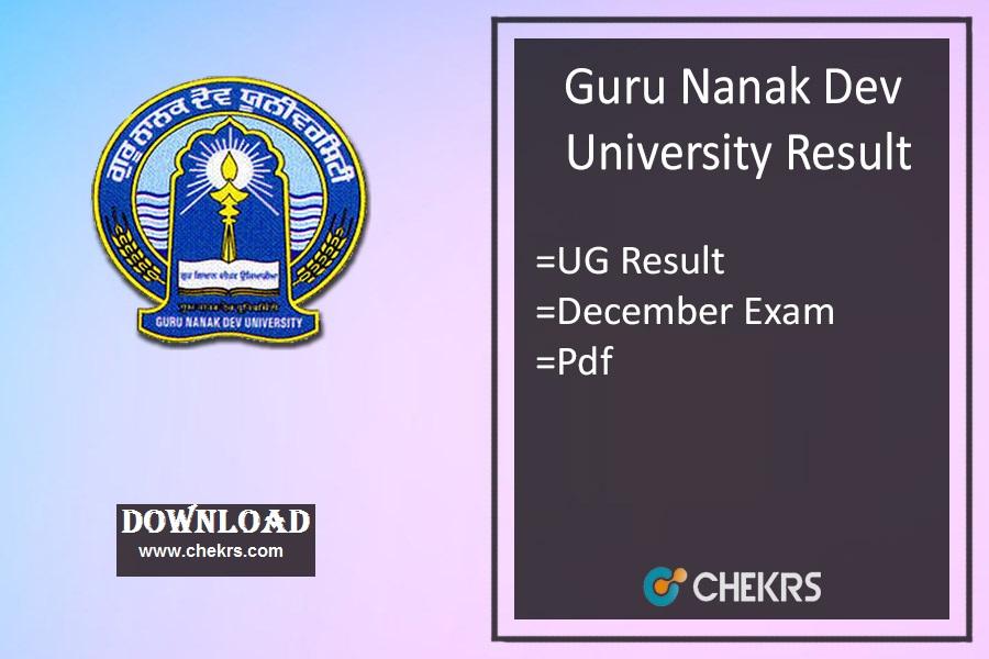 GNDU Result Dec - BA BSc BCom 1st 3rd 5th Sem Exam Results