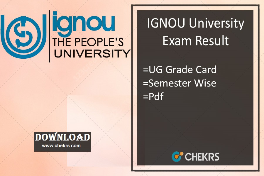 IGNOU Result Dec- ignou.ac.in BA BSc BCom BBA BCA Exam Result