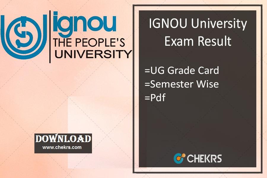 IGNOU Result Dec- ignou.ac.in BA BSc BCom BBA BCA Exam Result