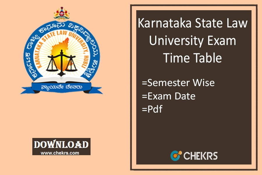KSLU Time Table Dec - Karnataka State Law University Exam Date