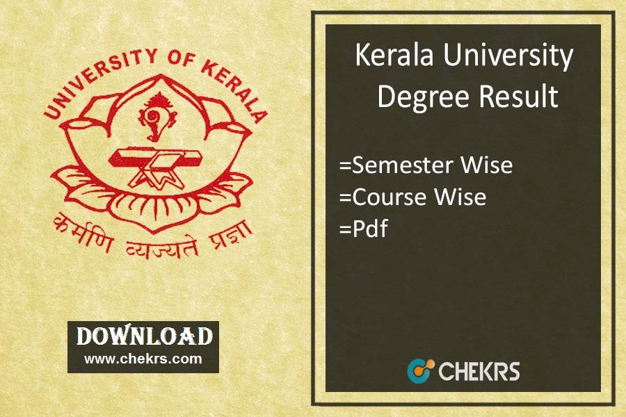 Kerala University Result - Degree 1st 3rd 5th Sem Exam Results
