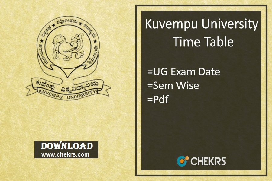 Kuvempu University Time Table BA BSc BCom BBM Exam Date