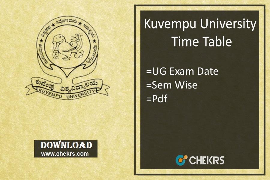 Kuvempu University Time Table BA BSc BCom BBM Exam Date