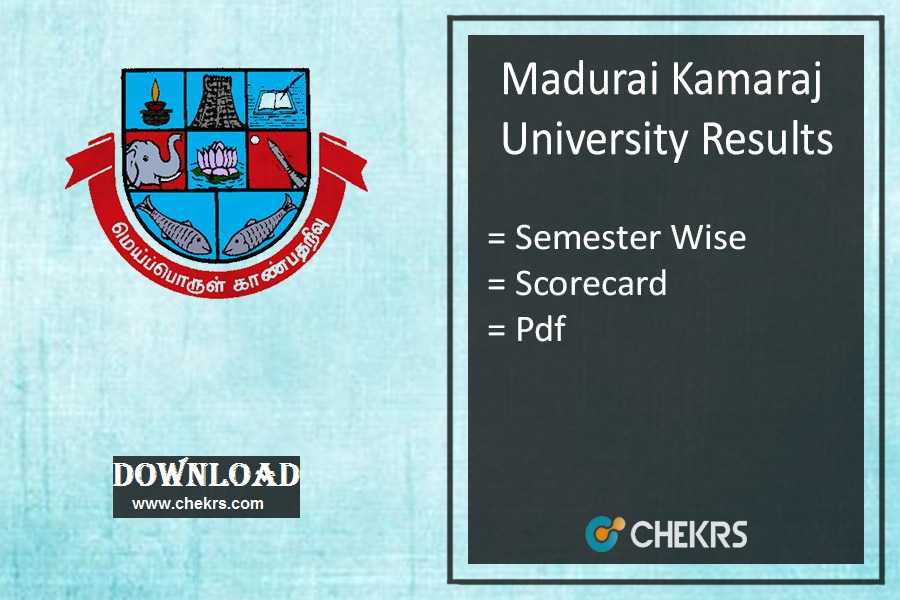 Madurai Kamaraj University Nov Results- MKU 1-3-5 Sem Exams