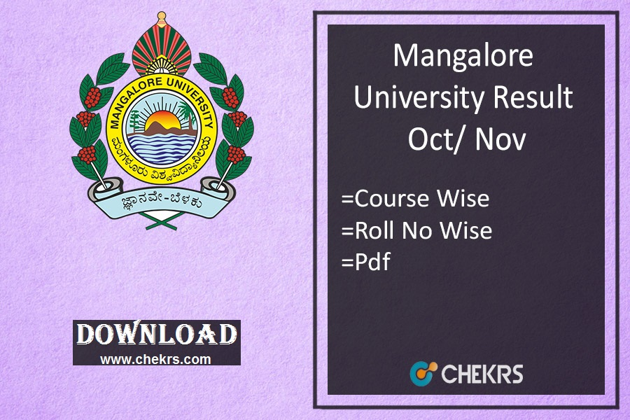 Mangalore University Result Oct/ Nov: BA BSC BCOM BSW Semester Results