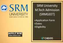 SRMGEET : Admission, Application Form, Dates, Syllabus & Pattern