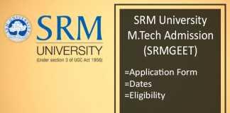 SRMGEET : Admission, Application Form, Dates, Syllabus & Pattern