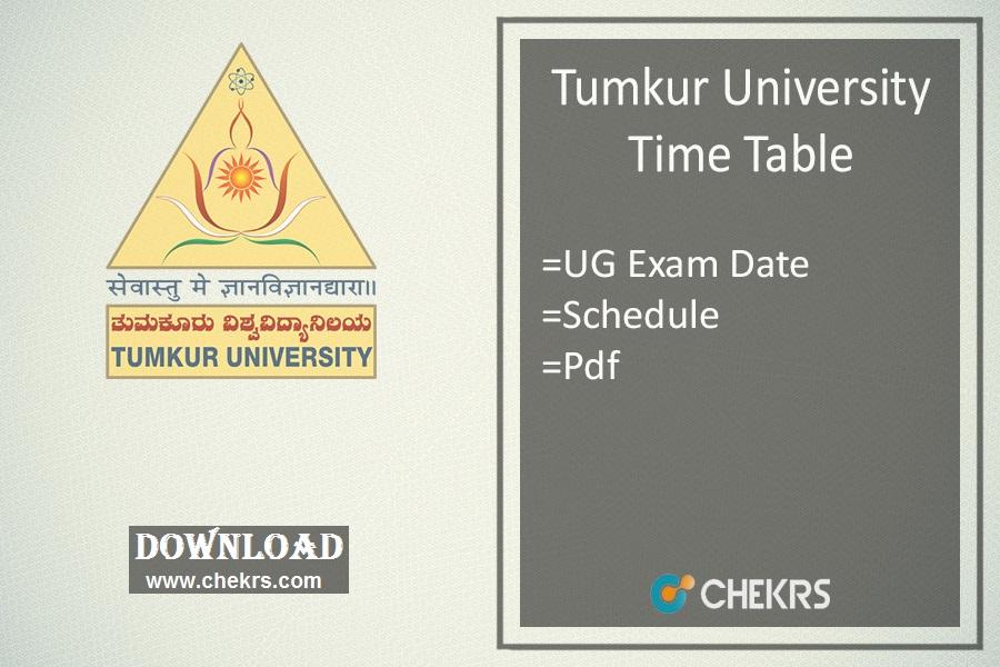 Tumkur University Time Table , BA BSc BCom Degree Exam