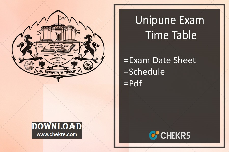 Unipune Exam Time Table Nov Dec