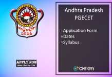 AP PGECET : Application Form, Dates, Syllabus & Exam Pattern
