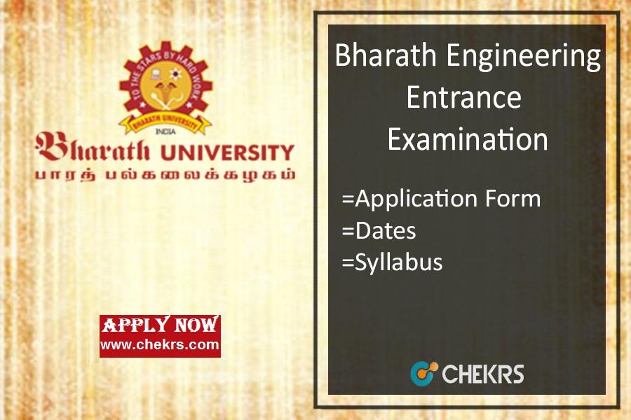 Bharath University Admission : BEEE Application Form, Dates