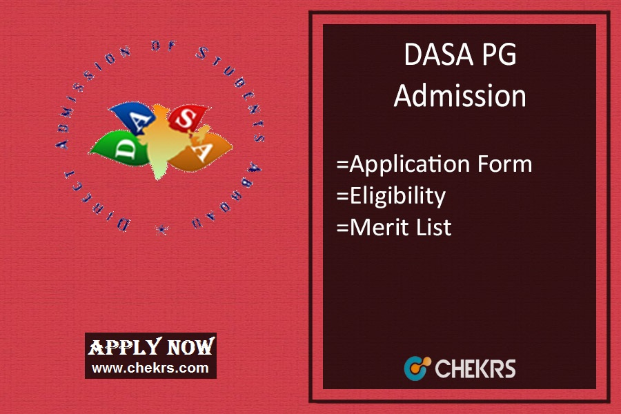 DASA PG : Admission, Application Form, Date, Eligibility, Merit List