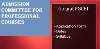 Gujarat PGCET : Admission, Application Form, Date, Syllabus