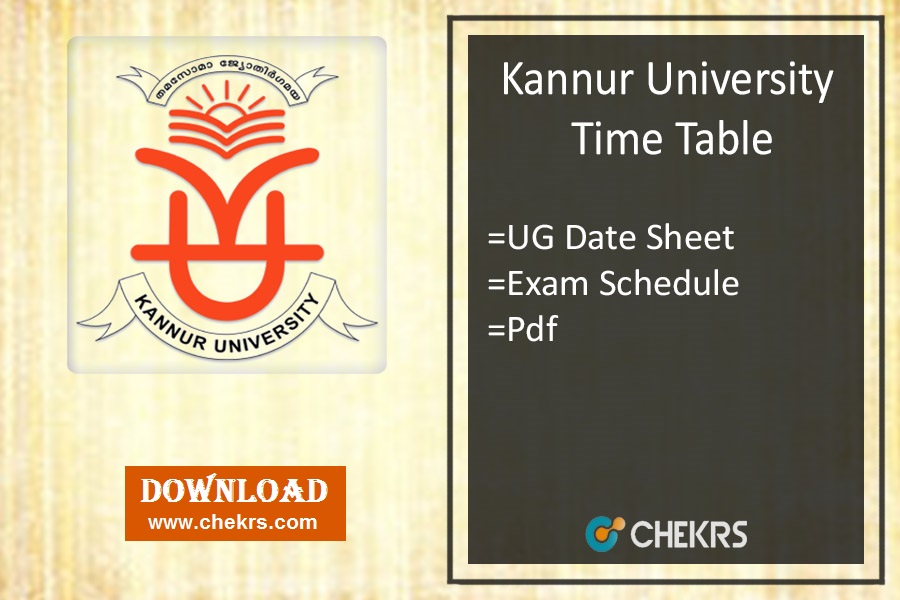 Kannur University Time Table - BA BSC BCOM BE Nov Date Sheet