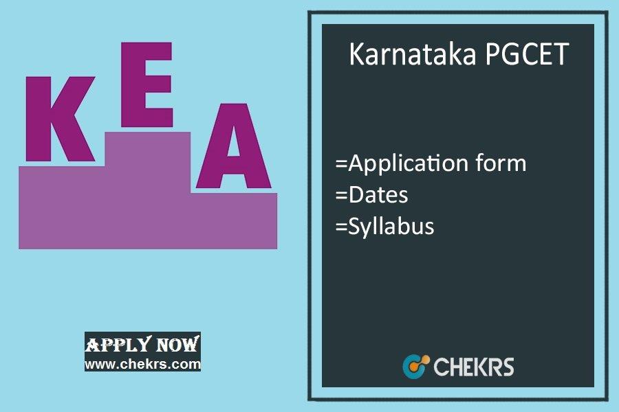 Karnataka PGCET : KEA Application Form, Date, Exam Syllabus