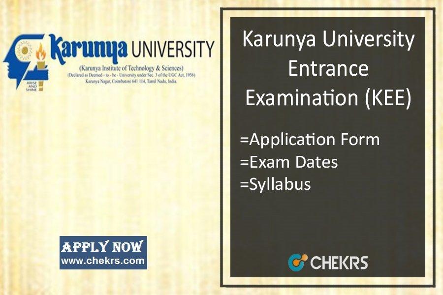 KEE - Application Form, Dates, Syllabus & Exam Pattern
