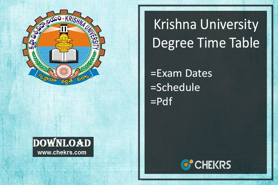 Krishna University Time Table 2019