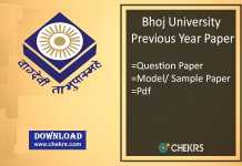 Bhoj University Previous Year Paper- Sample/ Model Question Papers