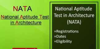 NATA: Application Form, Exam Date, Eligibility, Syllabus