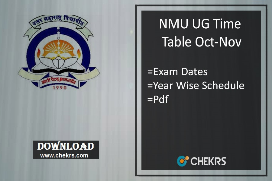 NMU Time Table Nov - Jalgaon TYBA SYBSC FYBCOM Exam Date
