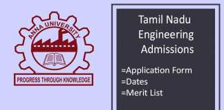 TNEA : Admission, Application form, Eligibility, Merit List
