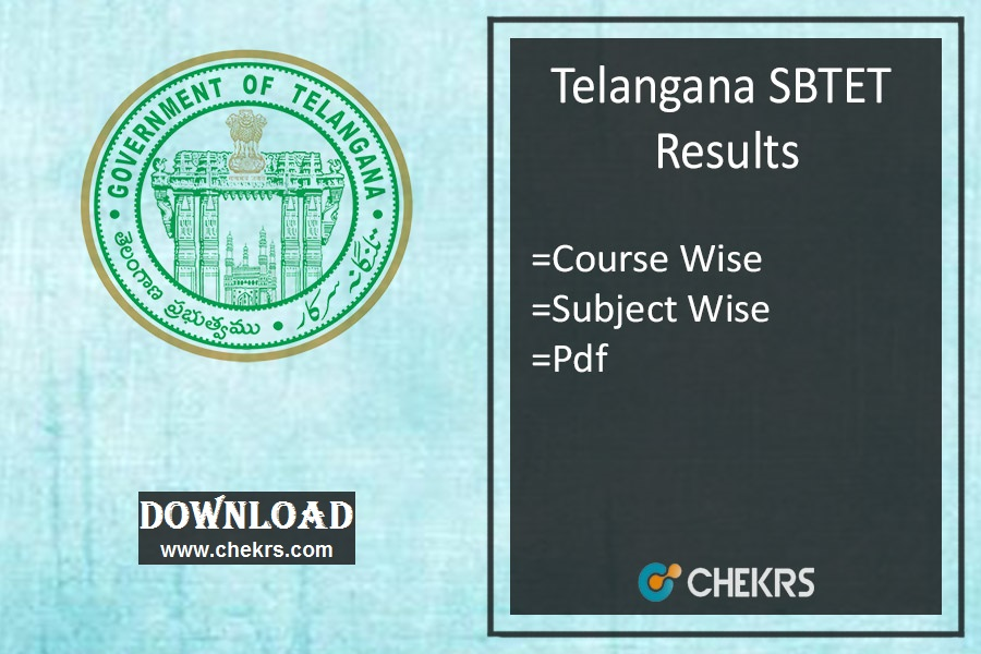TS SBTET Oct/Nov Results - Diploma C09 C14 C16 ER91 Result