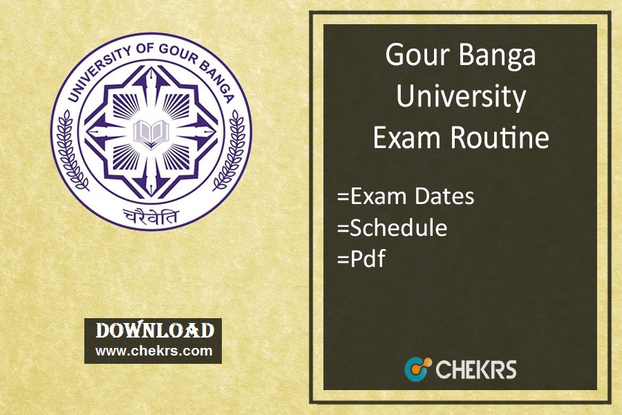 Gour Banga University Exam Routine - Part 1st-2nd-3rd Year Exam Date