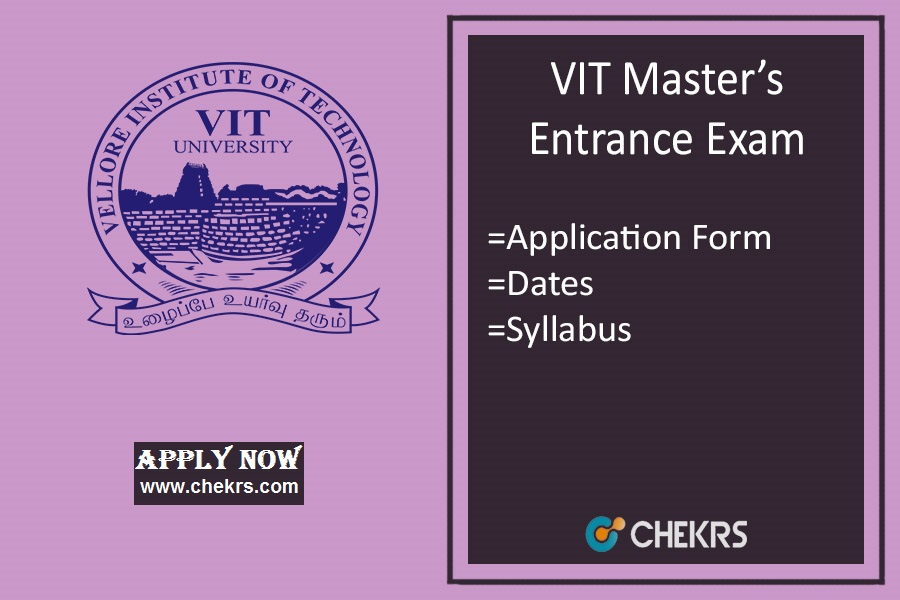 VITMEE: Admission, Application Form, Syllabus, Exam Dates