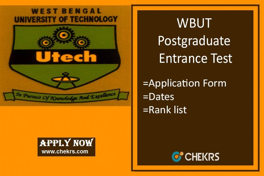 WBUT PGET : Application Form, Date, Syllabus, Rank List