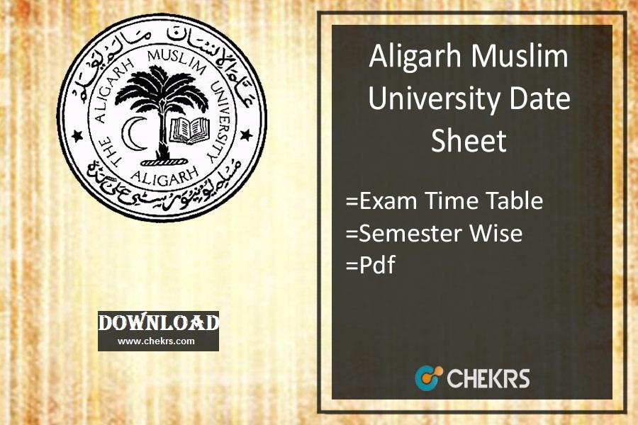 amu-date-sheet Download