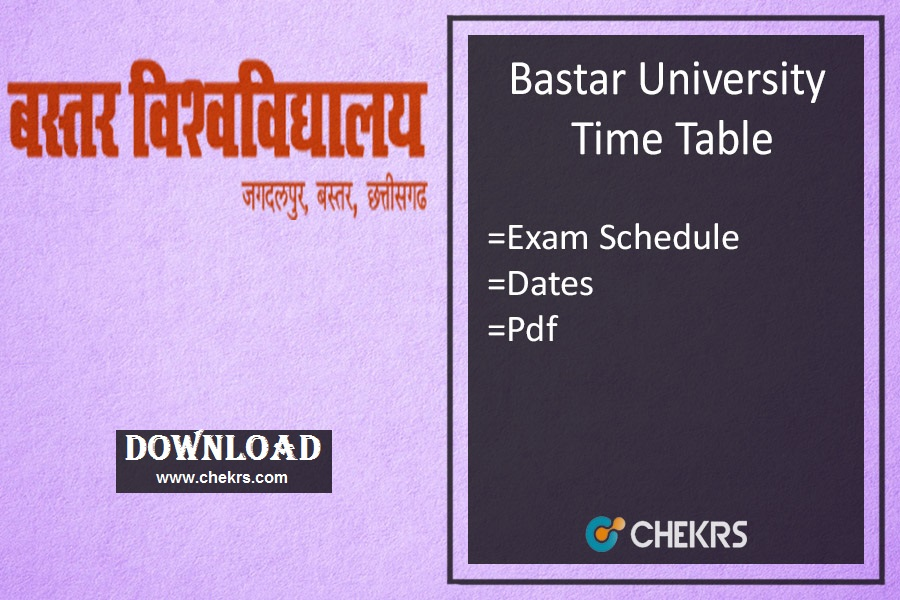 bastar university time table
