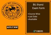 bu jhansi exam form