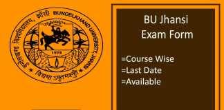 bu jhansi exam form