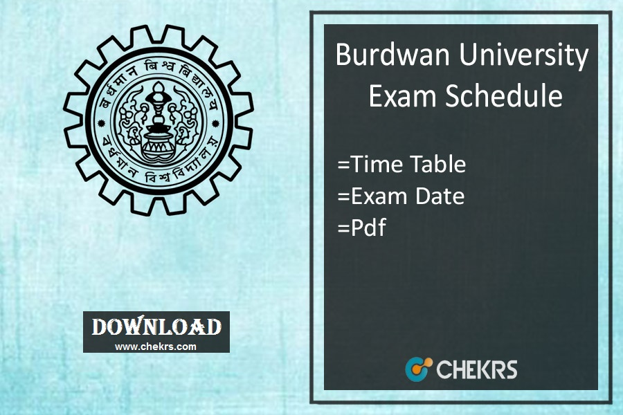 burdwan university exam schedule