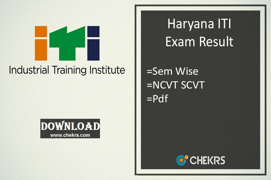 haryana iti result