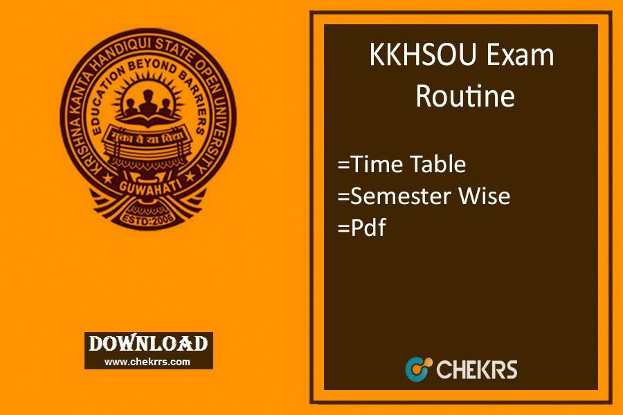 kkhsou exam routine