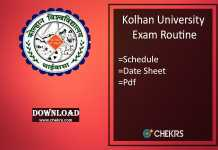 kolhan university exam routine
