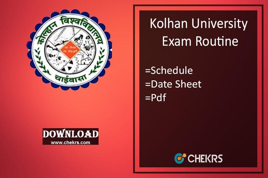 kolhan university exam routine