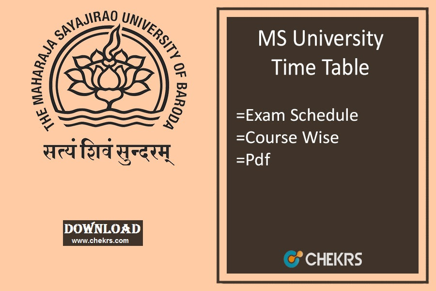 ms university time table