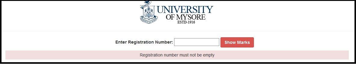 mysore uni result