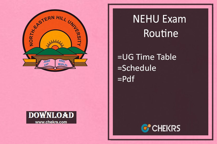 Nehu exam routine 2018 ba bsc bcom 2nd 4th 6th sem time table for Gtu time table 4 th sem